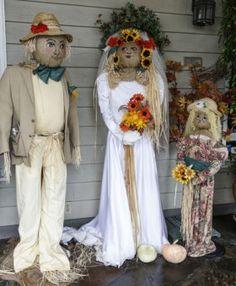 bride & groom scare crows | East Village 2012 | Cambria Scarecrow Festival