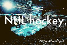 I am convinced my life would be hellaciously boring without hockey!