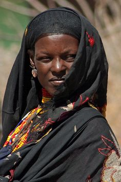 Ethiopian WomanThe Borana: Headscarf and Beads