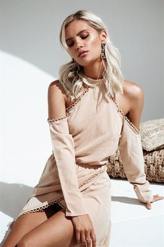 Tan Rhodes Dress #SABOSKIRT