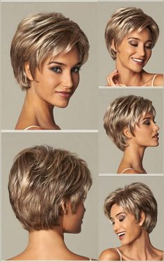 Short Wavy Great Synthetic Wigs Great Short Short hair cuts for women Synthetic Wavy Wigs Short Hair Over 60, Short Thin Hair, Short Grey Hair, Short Hair Wigs, Short Hair With Layers, Short Hair Cuts For Women, Short Layered Haircuts, Haircuts For Fine Hair, Haircut For Thick Hair
