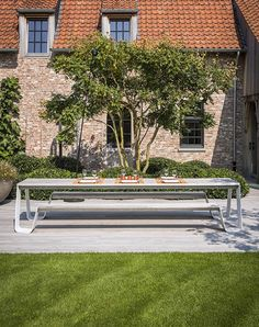 The sleek design of the Hopper picnic gives the garden of this rural  farmhouse a contemporary touch. 34d0705bf4