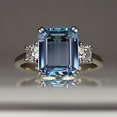Beautiful Sapphire Engagement Ring-I want something like this for an engagement ring when God decides to send my husband :)
