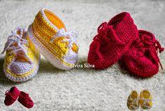 PINTURA EM TECIDO, CROCHÊ, TEAR, TRICÔ, VAGONITE, PONTO OITINHO E ETC.: Tenis de crochê para bebe