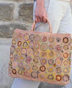 Femme Bambou sac fait main panier Nest grand sac creux Tote Lanterne Beach Bags