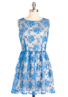 I absolutely love this dress! Wish I could afford it...   Modcloth.com $94.99 Blue and I dress