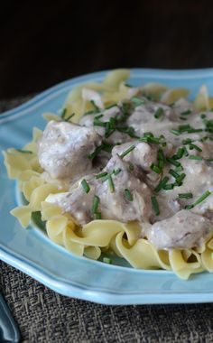 Comforting and easy to make, this Instant Pot Creamy Beef Stroganoff takes simple ingredients and turns them into a luscious freezer meal.