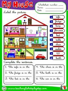 My house - Worksheet 6