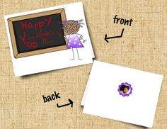 For Teacher Valentine Card Printable & by SMALLMOMENTSdesigns, $4.50