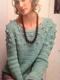 Pastel bobble jumper | Simply Crochet Issue 22