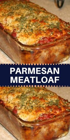 This meatloaf takes on Italian flavor with the addition of Parmesan cheese and an Italian herb blend. Serve this flavorful meat loaf with mashed potatoes and corn or green beans for a fabulous everyday meal. Top with Parm and bake til melted. Best Meatloaf, Meatloaf Recipes, Meat Recipes, Dinner Recipes, Cooking Recipes, Recipies, Parmesan Meatloaf, Meat Loaf, Beef Recipes
