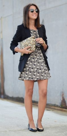 Love a dress and blazer duo