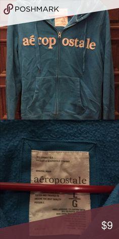 Women's Blue Aeropostale Zip-Up Hoodie Size Large Aeropostale Tops Sweatshirts & Hoodies