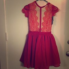 Red lace dress Red lace dress . Size small . Missguided Dresses Mini