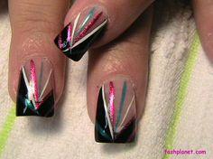 Liner Acrylic Nail designs