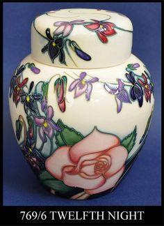 Moorcroft Pottery Twelfth Night 769/6 Emma Bossons http://www.bwthornton.co.uk/moorcroft.php