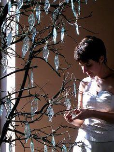 Hojas de luz - Arte en vidrio