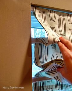 No Sew Faux Roman Shade -that can actually move and drop to the length of the window! Description from pinterest.com. I searched for this on bing.com/images