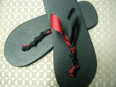 FSU ribbon Flip Flops, @http://www.facebook.com/pages/Ferly-Girly-Bows/200633543313327