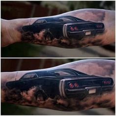 Explore the top 60 best car tattoos for men with vintage autos to modern motor designs. Chevy Tattoo, Auto Tattoo, Tattoos Masculinas, Racing Tattoos, Tattoos For Guys, Tatoos, Dream Tattoos, Friend Tattoos, Black Tattoos