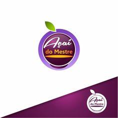Açaí do Mestre   Criação de Logo Para Alimentos & Bebidas We Do Logos, Web Design, Professional Logo, Business Names, Design Projects, Logos, Beverages, Food Items, Event Posters