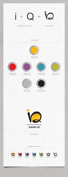 Earn IQ | Visual Identity by Vasilis Magoulas, via Behance