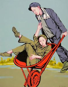 ARTIST: Liu Chunhai (劉純海) - Life During The Cultural Revolution  via: #Yellowmenace |  #ChineseArt #YangGallery http://yellowmenace.tumblr.com/tagged/Chinese%20art