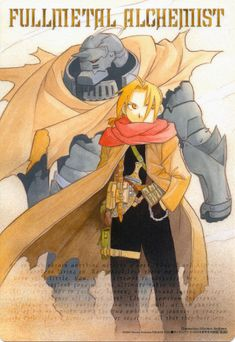 Fullmetal Alchemist Pencil Board - Gangan Powered 2004 Promo Shitajiki Al Ed and Roy (Shitajiki)