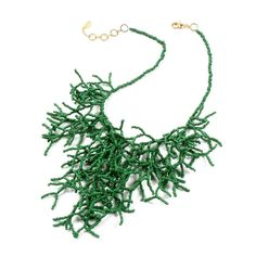 Scarlett Johansson Oscars Necklace steal: Amrita Singh green beaded collar for $30