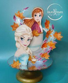 Bolo Frozen, Frozen Cake, Anna Frozen, Bolo Do Shrek, Cake Designs For Kids, Hand Painted Cakes, Unique Cakes, Frozen Birthday, Party Cakes