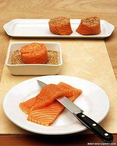 Sesame Salmon Roulades