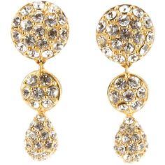CHRISTIAN DIOR VINTAGE new year's earrings ($235) ❤ liked on Polyvore