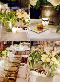 chevron runner and beautiful white tablescape via Snippet and Ink