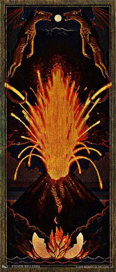 MtG card art by Steven Belledin: The First Eruption