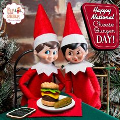 Who doesn't love a deliciously decadent cheeseburger every once in a while? We certainly do! | Elf on the Shelf Ideas