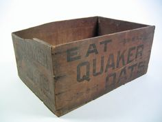 Vintage advertising Quaker Oats crate box by hermanmillermodern, $39.00