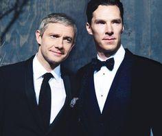 Martin Freeman & Benedict Cumberbatch @ tdos world premiere