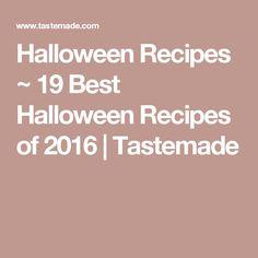 Halloween Recipes ~...