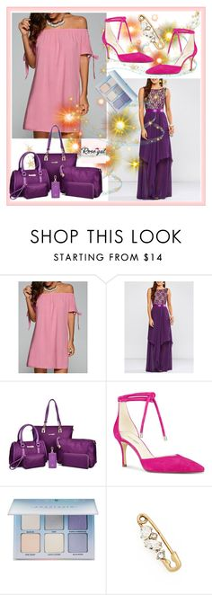 """""""ROSEGAL #11"""" by nizaba-haskic ❤ liked on Polyvore featuring Nine West, Anastasia Beverly Hills, Marc Jacobs, dresses and rosegal"""