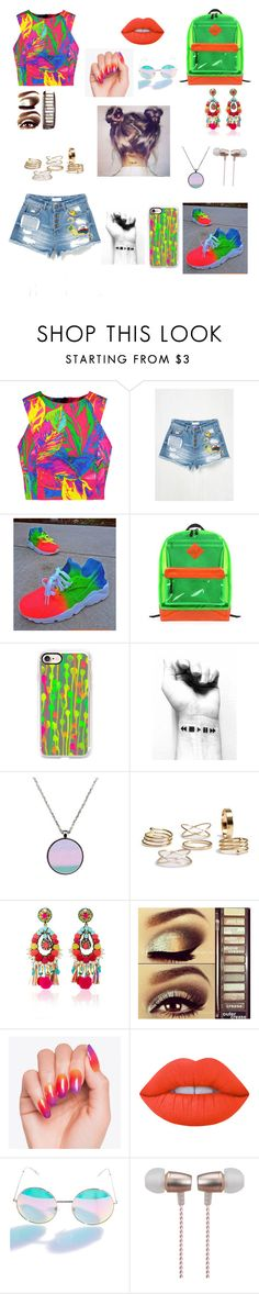"""""""Neon 💗"""" by miruna1-1 ❤ liked on Polyvore featuring Milly, Casetify, Ranjana Khan, Urban Decay, Lime Crime and Cynthia Rowley"""