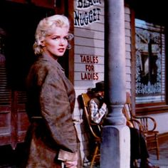 """Marilyn Monroe in """"The River of No Return"""", 1954."""