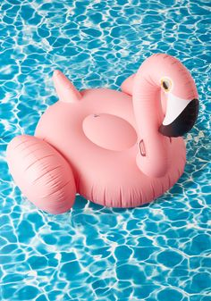 Flock on the Wild Side Pool Float in Flamingo. You know how to make the water your playground, and with this inflatable raft in tow, the fun flows even deeper! #pink #modcloth