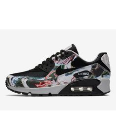 Nike Air Max 90 Womens Marble Dye Black Swoosh And White Trainers Cheap Sale f7027e5d6