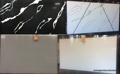 Check out over 50 varieties of Quartz slabs at Omega - Solid Series, Crystal Series, Marble Series and Other Patterns. Jumbo size slabs : 137 X Regular size Slabs : 125 x 63 Call us, Text us, Visit us Omega Quartz, Quartz Slab, Marble, Patterns, Crystals, Check, Collection, Block Prints, Granite