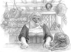 Nanny Ogg from Terry Pratchett's Discworld Series. Art by Paul Kidby.