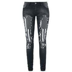 Megan Flag Pants - Rock Rebel by EMP