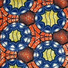 African Wax Print Fabric #196