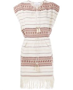 ZIMMERMANN Harlequin Embroidered & Fringe Poncho Dress. #zimmermann #cloth #