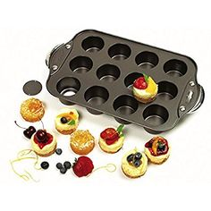 Amazon.com: Norpro Nonstick Mini Cheesecake Pan with Handles, 12 count: Individual Serving Bakeware Products: Kitchen & Dining