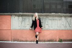 The Rust Me Up Dress paired with the No More Mr. Night Sky Jacket from britanandbrooks.com